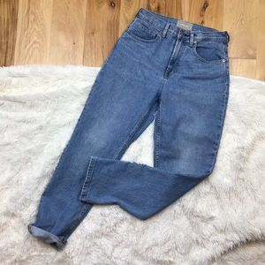 Everlane High Rise Straight Jeans
